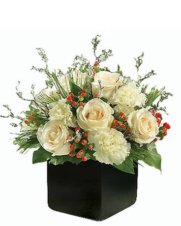 Snow Covered Mountains Flower Arrangement