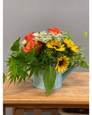 Watering Can Flower Arrangement