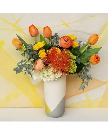 Pearl Crescent Flower Arrangement