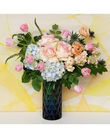 Spring Azure Flower Arrangement