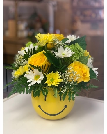 Happy Face Flower Arrangement