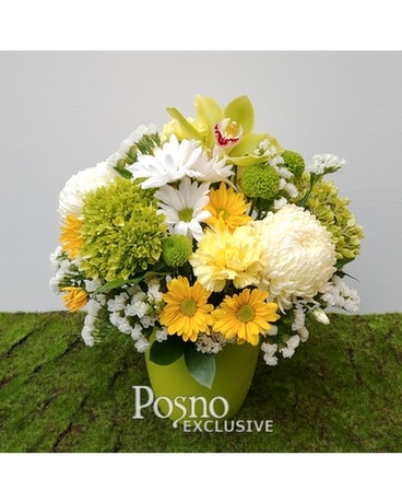 Lemon Lime Flower Arrangement