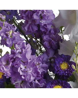 PURPLE DESIGNER'S CHOICE Flower Arrangement