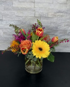 Color Pop Flower Arrangement