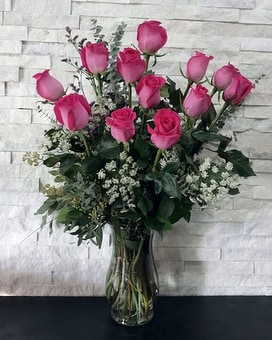 Pink Executive Roses Flower Arrangement