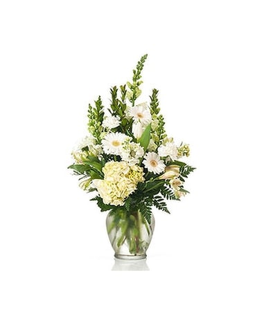 Buds and Blooms Ivory Enchantment Flower Arrangement