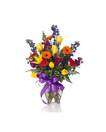 Buds and Blooms Bright Blooms Flower Arrangement