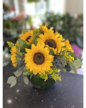 Sunny Sunflower Flower Arrangement