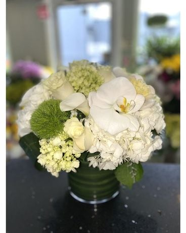 Elegant in White Flower Arrangement
