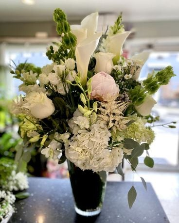Wonderful in White Flower Arrangement