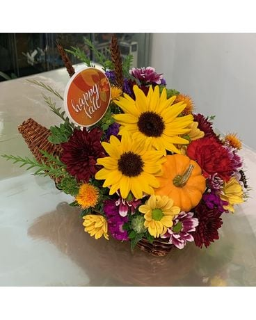 Happy Fall arrangement Flower Arrangement