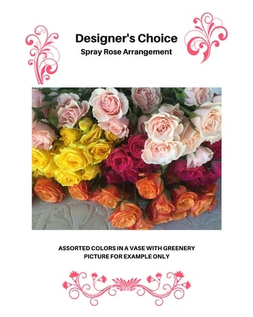 Designer's Choice - Spray Roses Arrangement Flower Arrangement