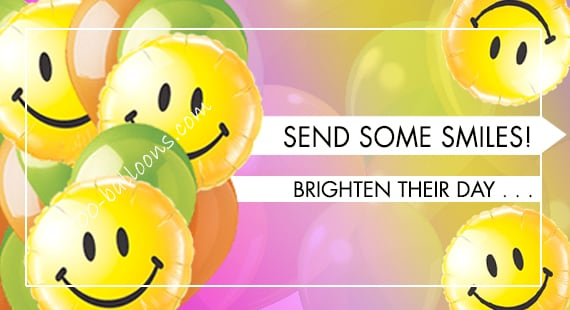 Make Someone Smile Balloons Bouquet Delivery