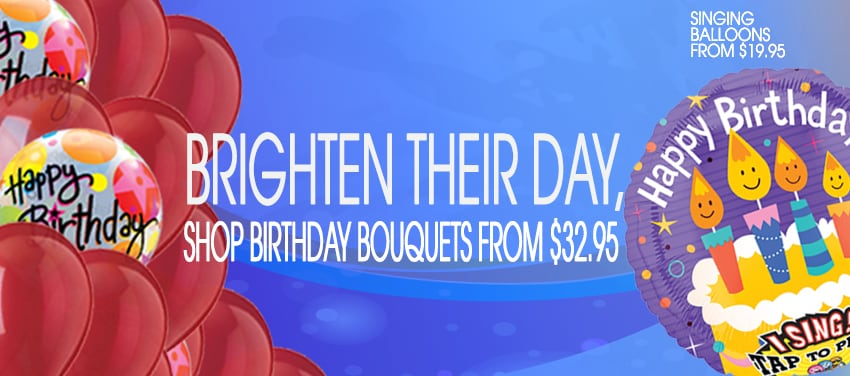 Brighten Their Day With Bouquet And Birthday Balloons Delivery