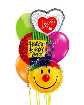 Grand Birthday Love & Smile Balloon Bouquet