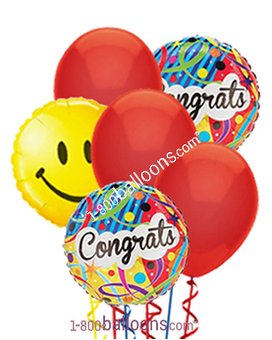 Congratulations And Smiles Balloons
