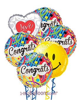 Congratulations Love And Smile Balloons