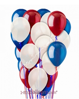 Red, White & Blue Latex Flower Arrangement