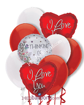 Thoughts of Love Balloons Flower Arrangement