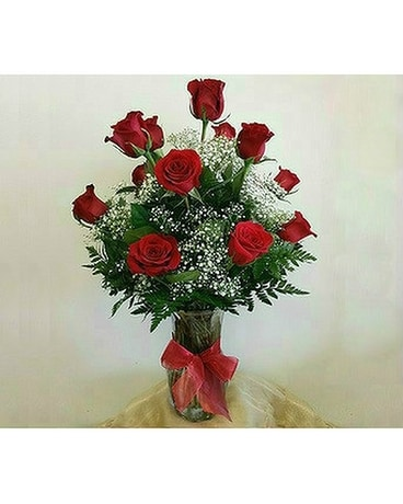 Premium Red Roses Flower Arrangement