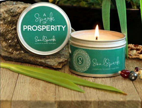 Soul Spark Candle with Crystals