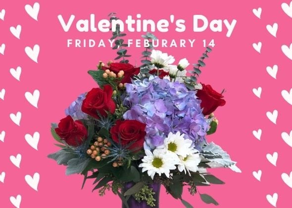 Valentine's Day flowers arrangements delivery Princeton