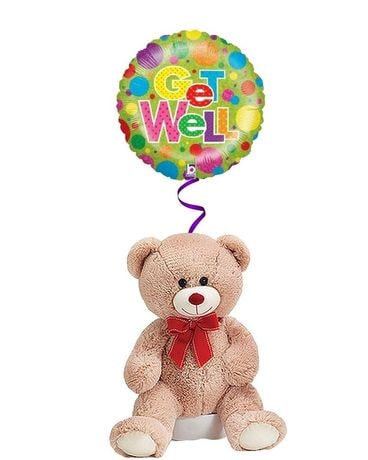 Get Well Bear and Balloon