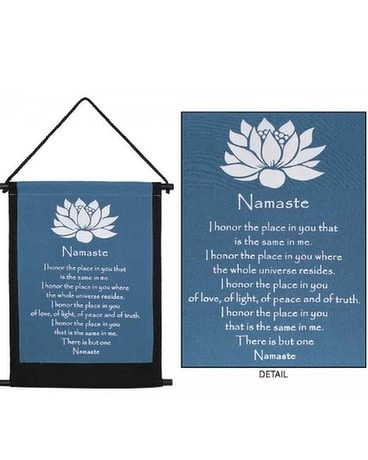 Meditation Banners Flower Arrangement