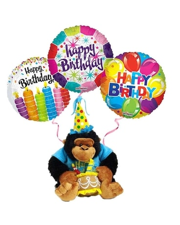 Birthday Gorilla with Balloons Gifts