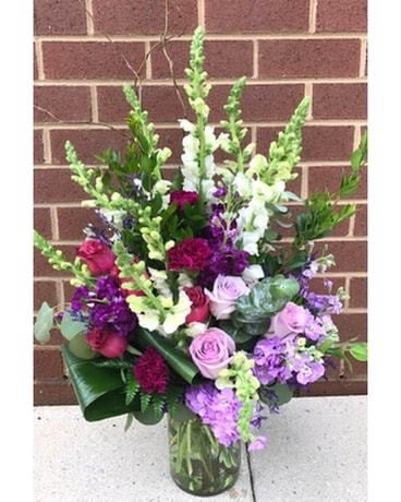 Purple Haze for Sympathy Flower Arrangement