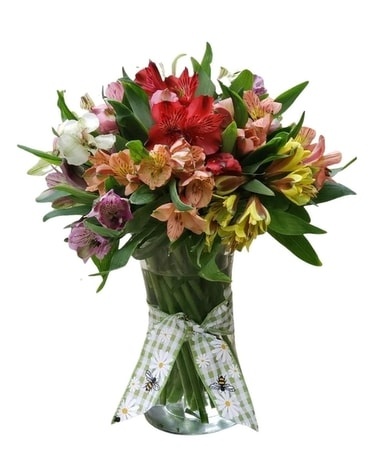 Amazing Alstroemeria Vase Flower Arrangement