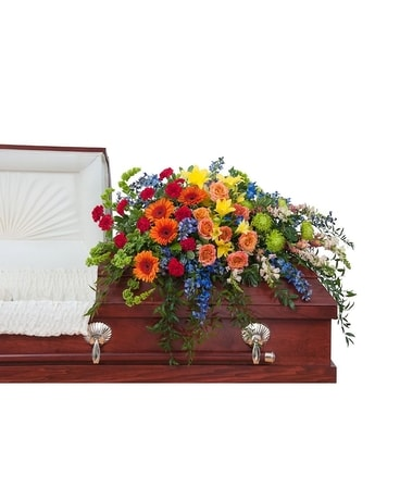 Sunshine Harmony Casket Spray Flower Arrangement