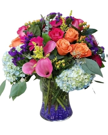 Bejeweled Flower Arrangement