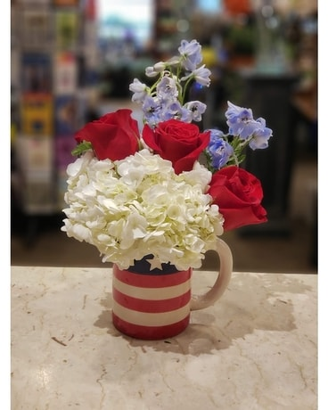 Freedom Mug Flower Arrangement