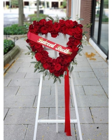Red Heart Wreath Wreath