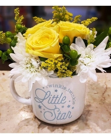 Twinkle Twinkle Baby Boy Flower Arrangement