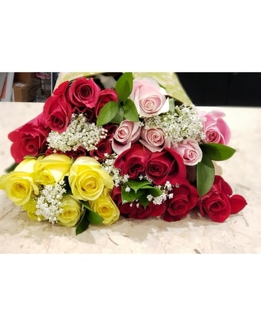Summer Rose Bouqs ~ 24 Stems Bouquet