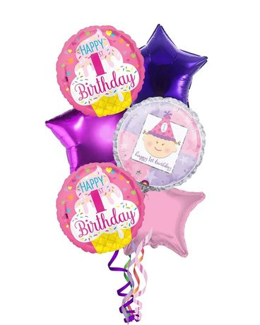 1st Birthday Balloons for Baby Girl Gifts