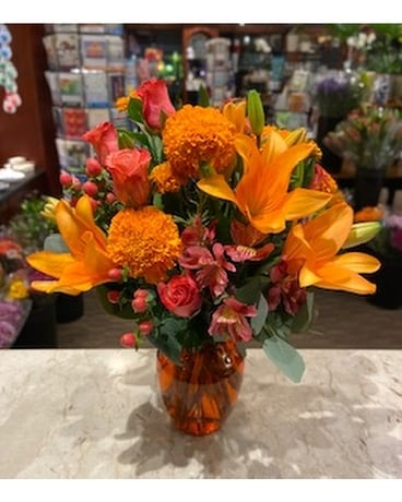 Orange Sorbet Flower Arrangement