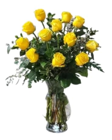 Yellow Roses Flower Arrangement