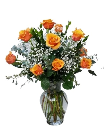 Orange Roses Flower Arrangement