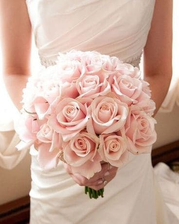 Timeless Rose Bridal Bouquet with Boutonniere Flower Arrangement