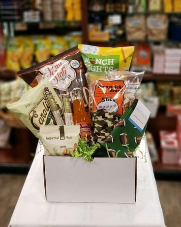 Football Snack Basket Gift Basket