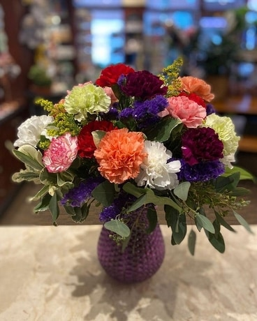 Colorful Carnations Flower Arrangement