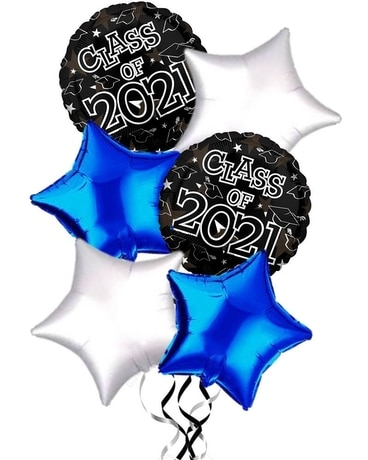 Class of 2021 Balloons By School Color Gifts