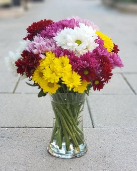 Dashing Daisies Vase Flower Arrangement
