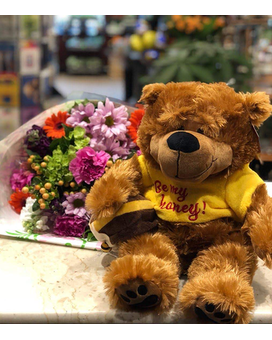 Honey Bear with Flowers Gifts