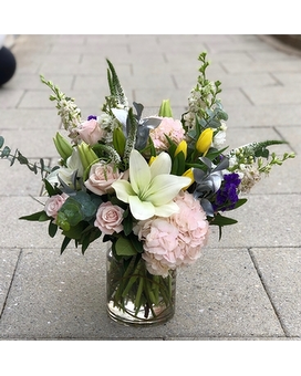 Pastel Harmony Flower Arrangement