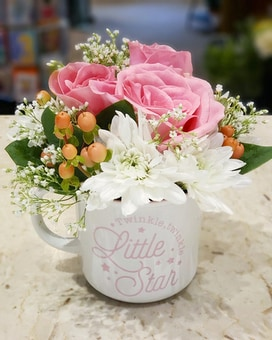 Twinkle Twinkle Baby Girl Flower Arrangement