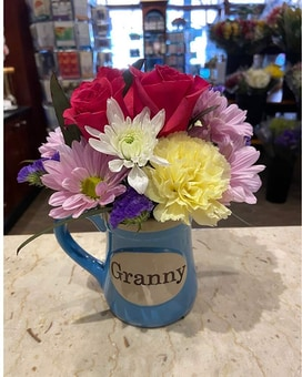 Granny Mug Flower Arrangement